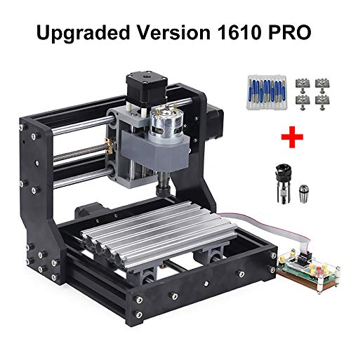 Craftsman Upgraded Version 1610 Pro 3 Axis CNC PCB Milling Machine,GRBL Control Diy Mini CNC Machine Wood Router Laser Engraving with Offline Controller (1610 pro) (Best 80 Percent Lower Jig)