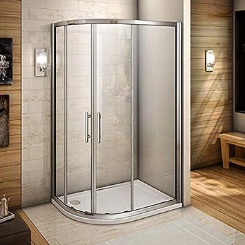 Perfect Quadrant - Mampara de ducha de cristal deslizante de 6 mm ...