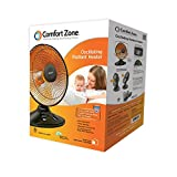 Appliances : Comfort Zone Oscillating, Electric Wire Element Dish Heater | Black Parabolic Heater with 70° Oscillation