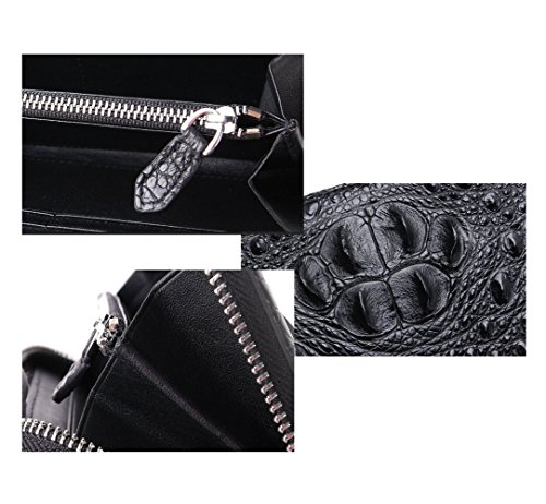 Classic card Leather Men's Clutch Position Bag Crocodile Head Multi Wallet 104q7w7Ex