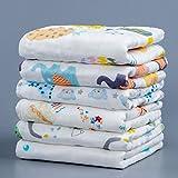 NTBAY 6 Layers of Baby Washcloths Natural Muslin Cotton...