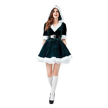 HaIIeed Disfraz de Navidad Verde Santa Claus Adulto Falda Corta ...