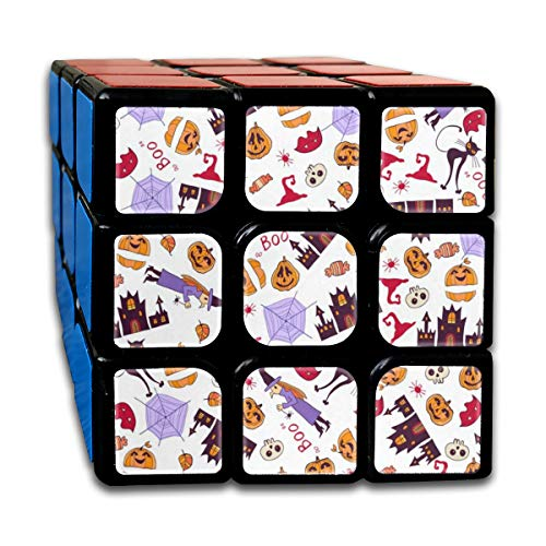 Halloween Happy Customized Speed Cube 3x3 Smooth Magic Square Puzzle Game Black