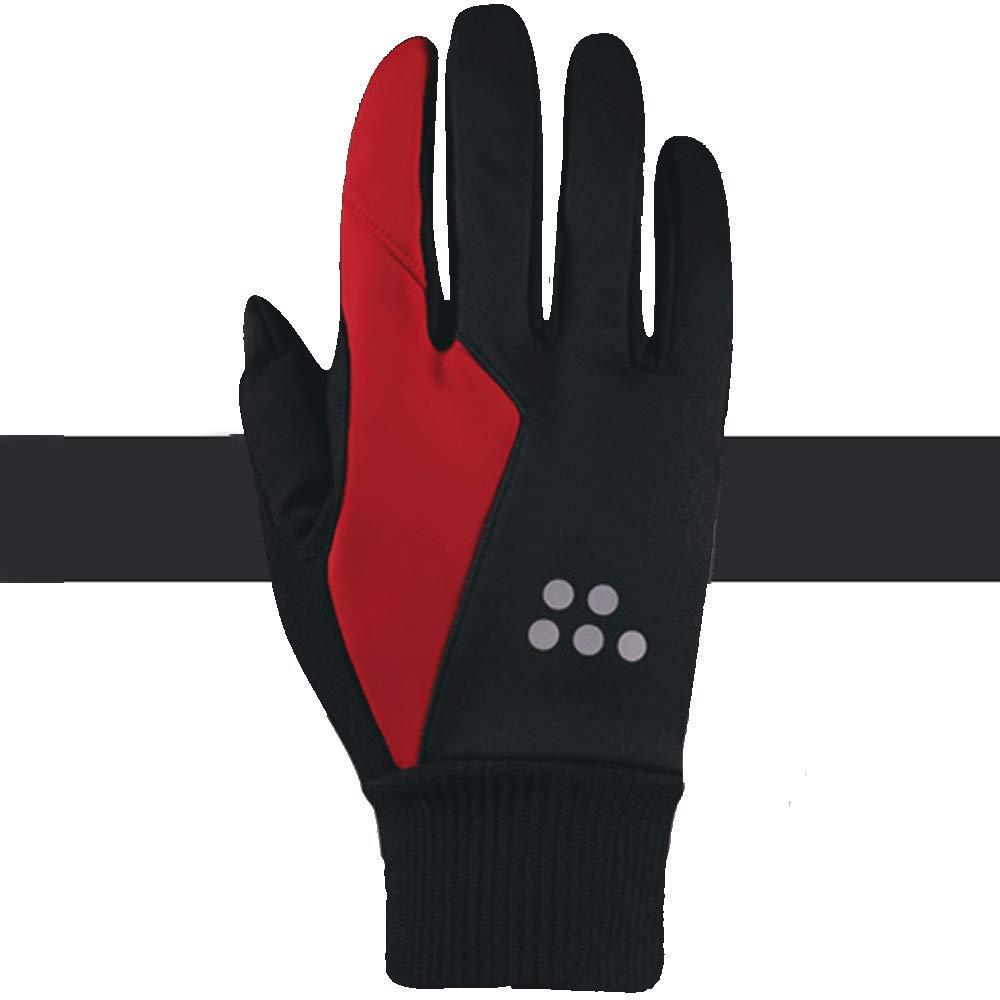QARYYQ Herbst Und Winter Reiten Alle Männer Touchscreen Winddicht Warm Motorrad Fahrrad Lange Fingerhandschuhe, Eine Vielzahl Von Farben Handschuh (Farbe   ROT, größe   XXL)