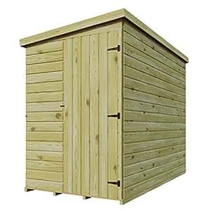 5x 3de madera tratada a presión caseta de jardín cobertizo (Lean Tongue & Groove Pent cobertizo