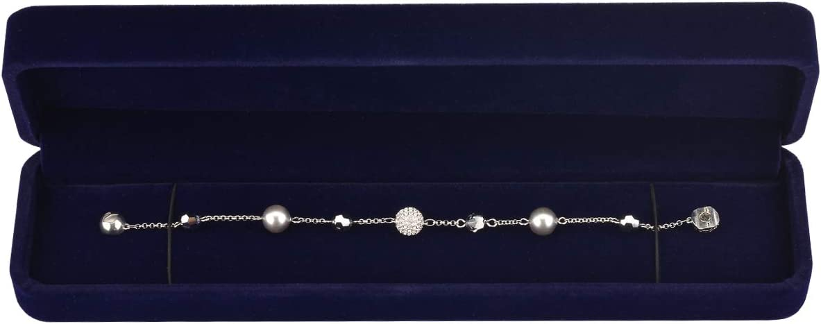 Cosmos Blue Color Velvet Bracelet Chain Gift Box Jewelry Box