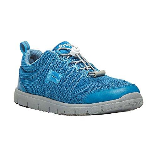 Propet Women's TrawelWalker II Sneakers, Blue Mesh, EVA, Rubber, 6.5 AA
