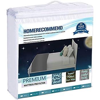 Amazon.com: HOMERECOMMEND Protector de colchón sábana bajera ...