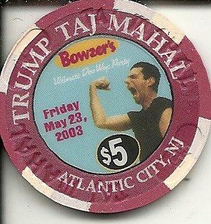 $5 trump taj mahal bowser;s ultimate doo wap party 2003 casino chip atlantic city new -