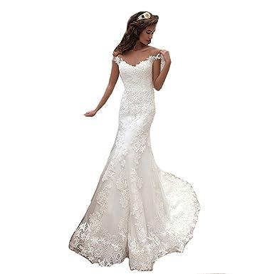 HotGirls molto eleganti abiti da sposa vintage sirena scollato vestito da  sposa  Amazon.it  Abbigliamento b286fde4c2f