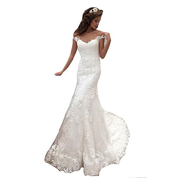 6318d2b45464 HotGirls molto eleganti abiti da sposa vintage sirena scollato vestito da  sposa  Amazon.it  Abbigliamento