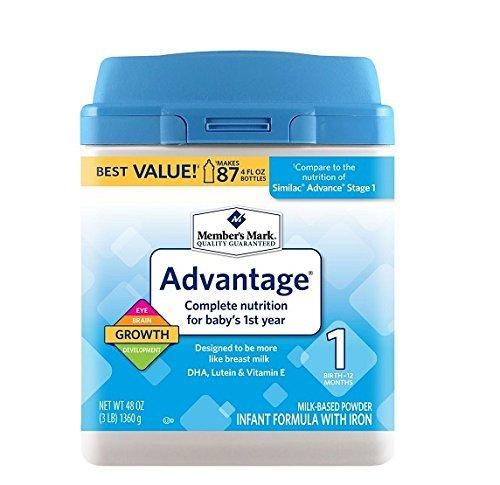 Member's Mark Infant Formula, Advantage (48 oz.) by Member's -