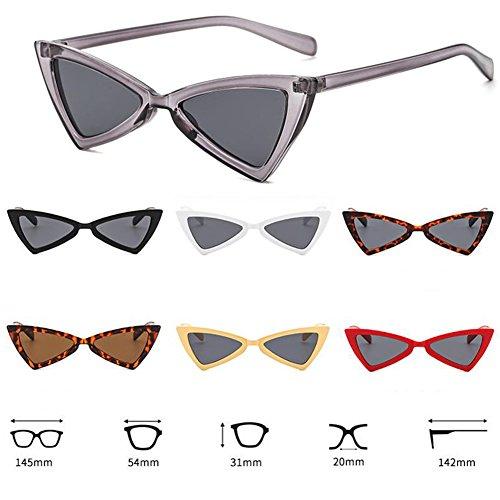 Eyewear de Retro Fashion Beige Triangle lunettes soleil Eye Yefree Cat femmes métal gray charnière 0pqzdfPw