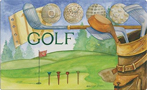 Toland Home Garden Hole in One 18 x 30 Inch Decorative Golf Floor Mat Outdoor Sport Doormat ()