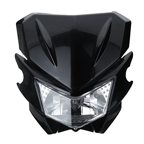 Cheap CoCocina 12V H4 Universal Motorcycle Head Light For Yamaha Dual Sport Street Fighter Dirtbike – Black