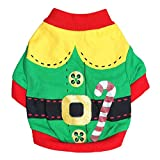 Kirei Sui Christmas Dogs Cats Pets Clothes Elf Costume Large Green