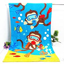 Cotton Bath towel Printing Cartoon Beach towels monkey