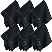 Microfiber Cleaning Cloth 8x8 Inch (6 Pack) for Lens, Eyeglasses, Glasses, Screen, iPad, iPhone, Tablet, Cell Phone - Lint-FREE Cleaner Cloths to Clean Camera Lenses, Tablets, Touch LCD TV Screens