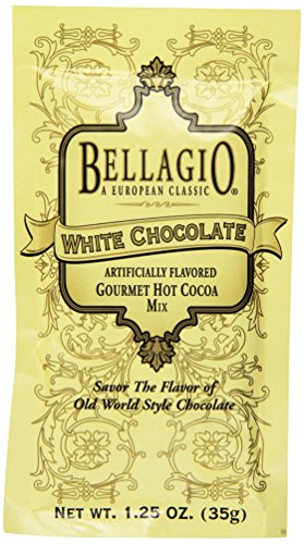 Bellagio Gourmet Hot Cocoa (Bellagio White Chocolate Hot Cocoa, 1.25-Ounce Packets (Pack of 25))