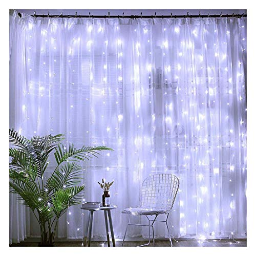 Kecar 600 LED Lights Window Curtain Lamp 8 Patterns for Indoor and Outdoor Decoration for Home Garden Decor Decoration,Wedding Party, New Year,Christmas Tree, Propose