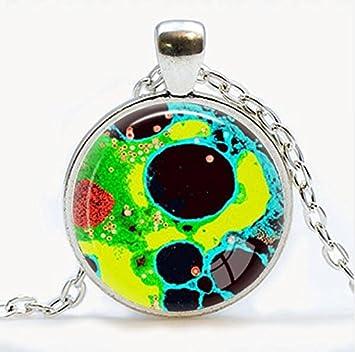Nueva joyería colgante de virus de virología Virus colgante collar microbio Biología Ciencia regalo Microscopic view