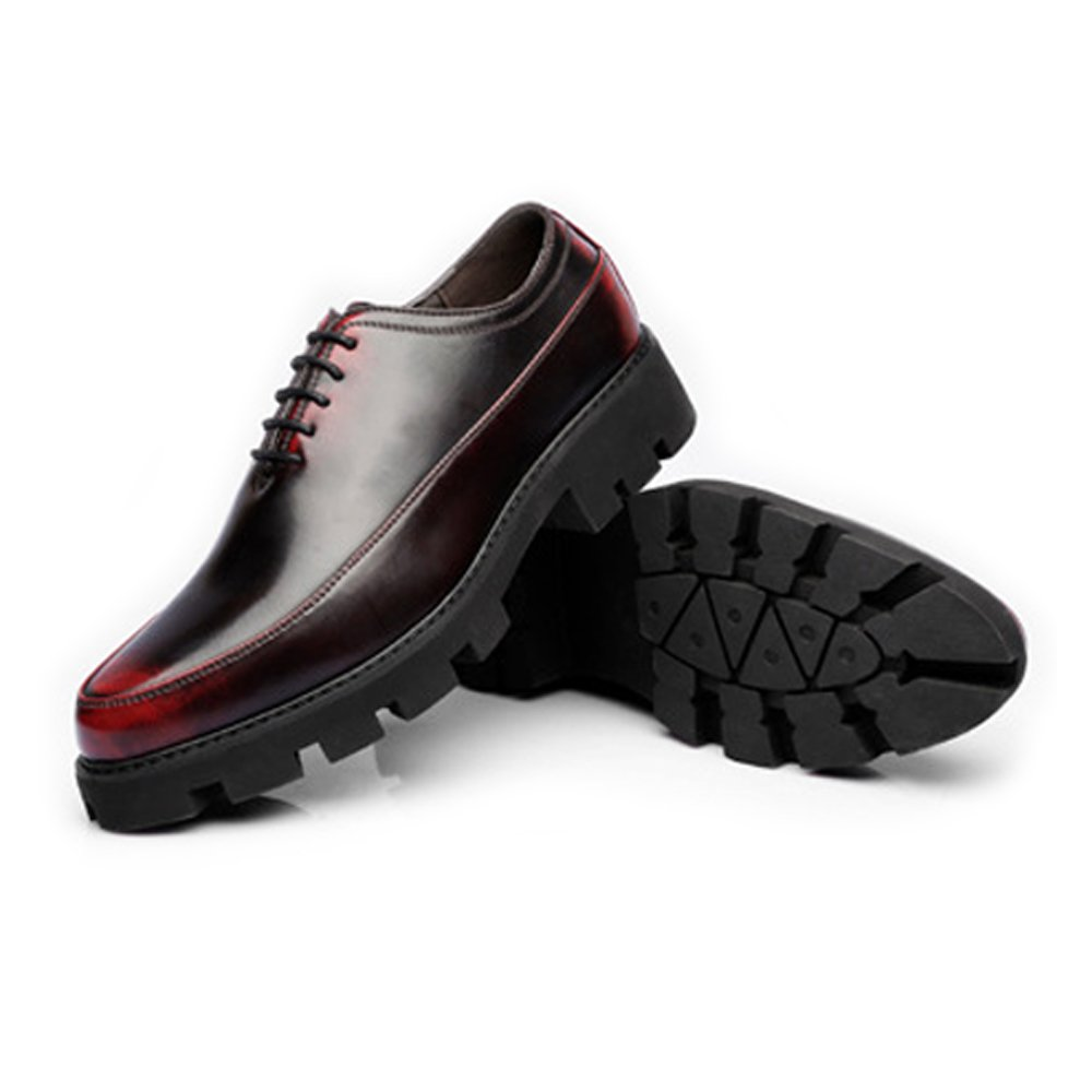 XIANGBAO-Persönlichkeitsfall Mode männer Freizeitschuhe Matte PU Leder Leder Leder Prom Loafer Lace Up Atmungsaktiv Gefüttert Starke Laufsohle Oxfords 428c73