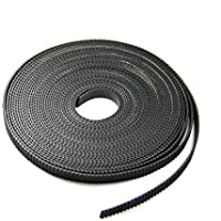 FEBNISCTE 10 Meters GT2 timing belt width 6mm Fit for RepRap Mendel Rostock Prusa GT2-6mm Belt