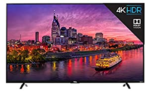 TCL 55P607 55-Inch 4K Ultra HD Dolby Vision HDR Roku Smart LED TV  (2017 Model)