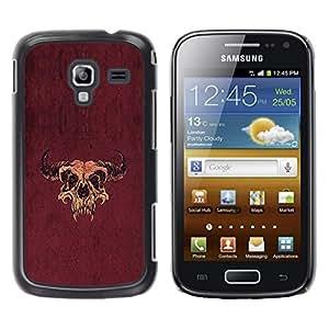 Be Good Phone Accessory // Dura Cáscara cubierta Protectora Caso Carcasa Funda de Protección para Samsung Galaxy Ace 2 I8160 Ace II X S7560M // Taurus Buffalo Skull Western