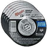 Milwaukee 5 Pack - 4 1 2 Hubbed Grinding Wheel
