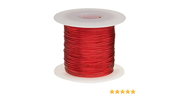 Red 2530 Length Magnet Wire 0.0188 Diameter 2.5 Lbs Enameled Copper Wire 25 AWG
