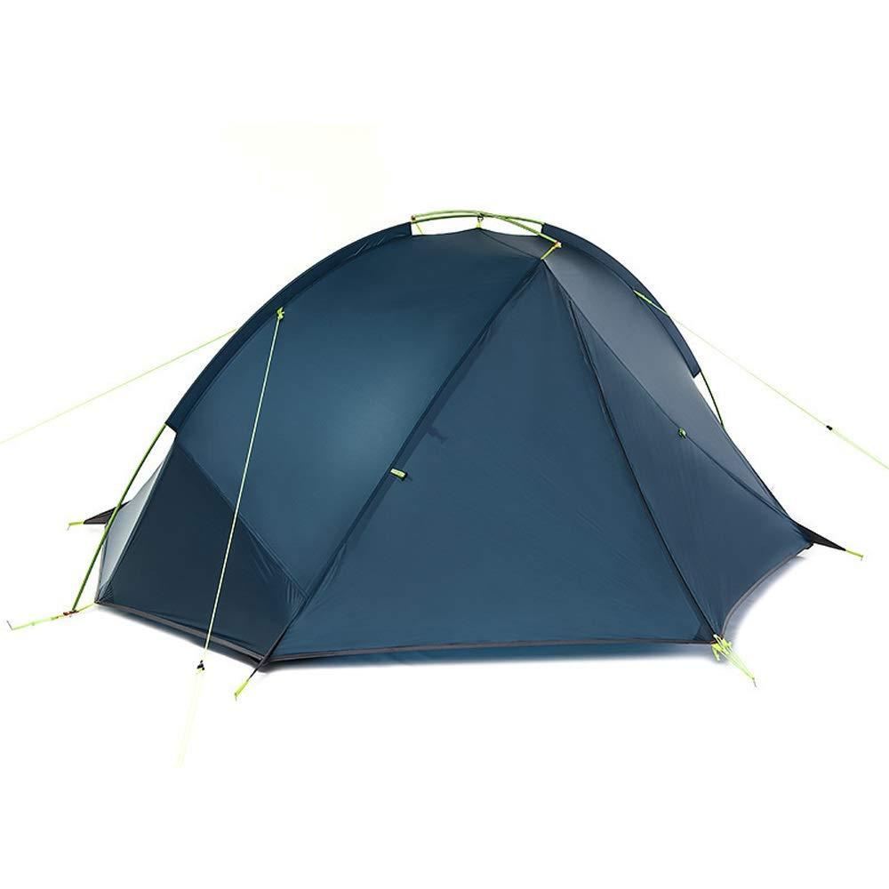 MUMUWU テント 1人用 2人用 ツーリングテント 二層構造 高通気性 簡易テント 紫外線カット アウトドア (Color : ネイビー, Size : ダブル) ダブル ネイビー B07PYXPCYQ