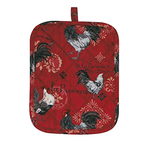 Kay Dee Designs R1782 La Provence Rooster Potholder with Terry Cloth Backing ()