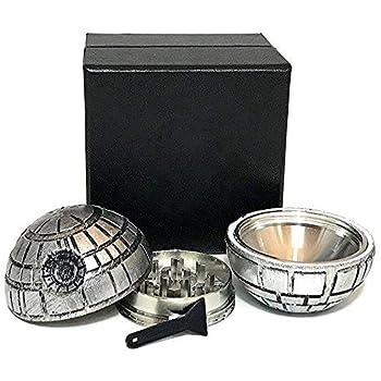 Saingace Happy Gift Silver Round Star Wars Death Star Zinc Alloy Tobacco Crusher Herbal Alloy Smoke Metal Crusher New 2018 Home & Garden