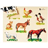 Farm Animals Photo Knob Puzzle