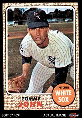 1968 Topps # 72 Tommy John Chicago White Sox (Baseball Card) Dean's Cards 4 - VG/EX White Sox