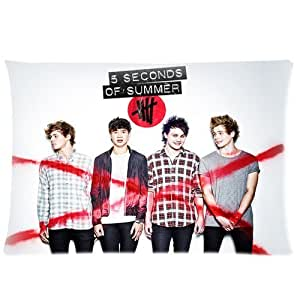 Music Band Star 5 Seconds Of Summer 5Sos Personalized Custom Cotton & Polyester Soft Rectangle Pillow Case Cover 20X30 (One Side) hjbrhga1544