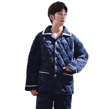 PFSYR Pijamas de hombre, ropa de invierno cálida y gruesa, pijamas y pantalones de