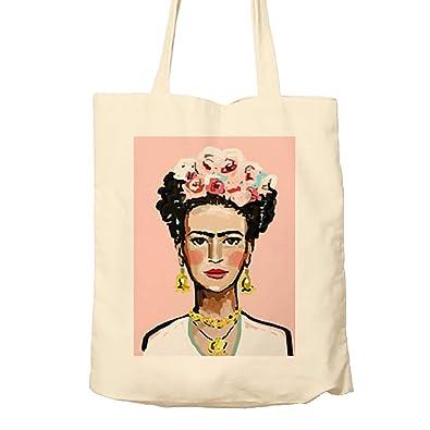3d3c0c92b Hiros®Frida Kahlo themed Tote Bag,Natural Shopping Bag,Environmentally  Friendly,Gift