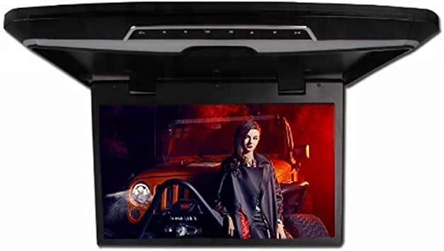 RBTT Monitor de TV para automóvil Multifuncional Techo 17.3 Pulgadas TFT de Pantalla Grande HD 1080P