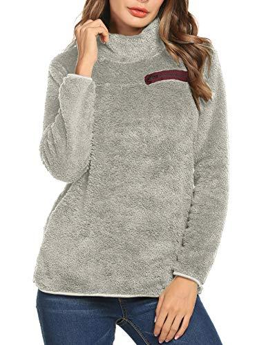 Women's Fashion Faux Fur Coats Warm Winter Coats Soft Teddy Sherpa for Coat Casual Double Fuzzy Sweatshirt