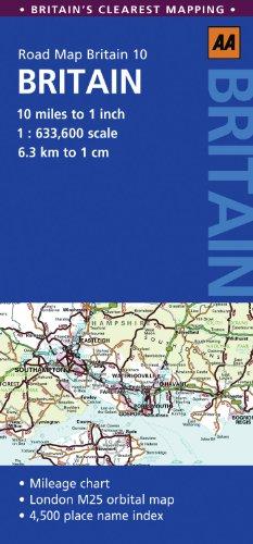 Road Map Britain (Aa Road Map Britain Series)