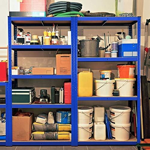 Yaheetech 3PCS 5 Tier Garage Shelving Units Storage Shelves Metal Racking for Garages and Sheds,180 x 90 x 40 cm