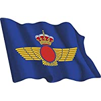 Artimagen Pegatina Bandera ondeante Ejército del Aire 60x50