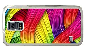 Hipster cassette Samsung Galaxy S5 Case abstract colorful lines art PC Transparent for Samsung S5 by lolosakes
