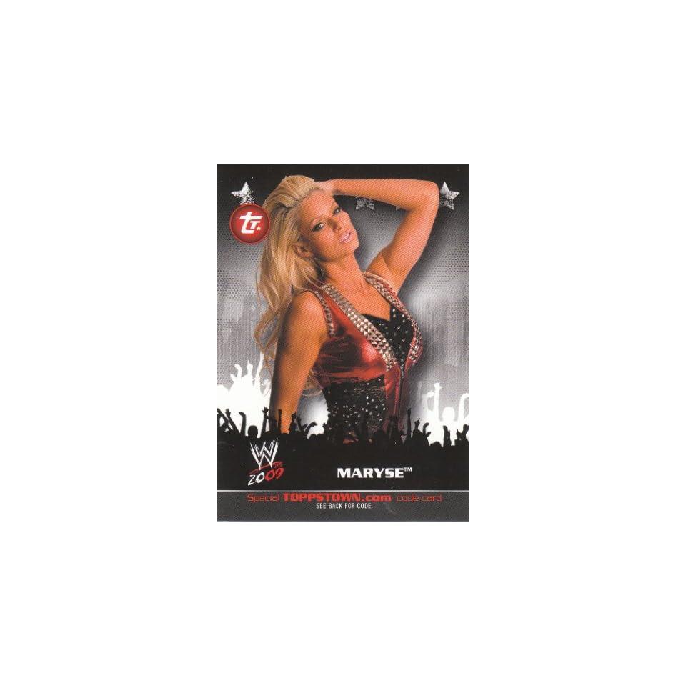 2009 Topps WWE Trading Cards ToppsTown Insert  Maryse #TT16