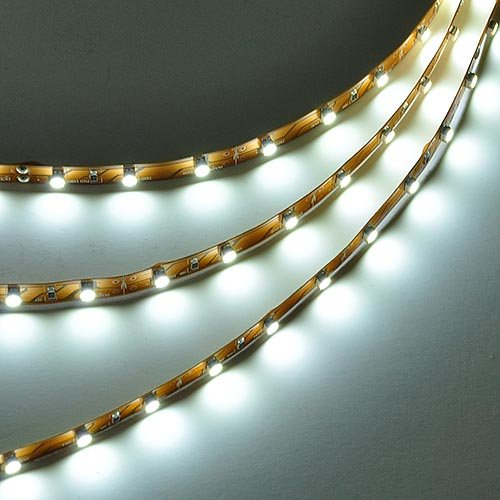 LEDwholesalers 16.4 Feet (5 Meter) Flexible LED Light Strip with 300xSMD3528 and Adhesive Back, 12 Volt, White 6000K, ()