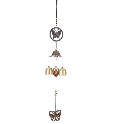 everpert Karen Harris vida al aire libre 3 campanas de cobre de tubos de viento Chimes