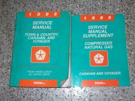 - 1995 Dodge Caravan MINI VAN Shop Service Repair Manual Set OEM FACTORY (service manual, and the service manual supplement)