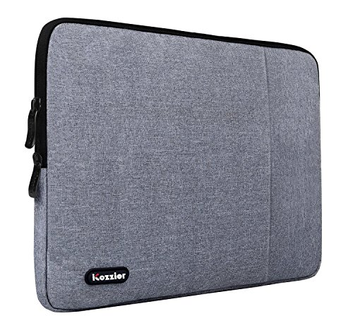 iCozzier 13,3-14 Zoll wasserdicht Neopren Sleeve Tragetasche Laptot/ Notebook/ Computer/ Chromebook/ MacBook/ MacBook Pro/ MacBook Air/ Ultrabook Computer - grau